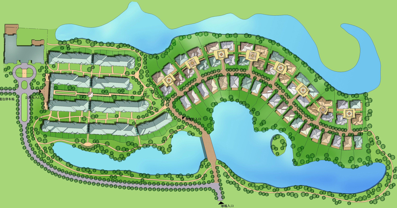 北京.CBD高尔夫会员公寓别墅区规划